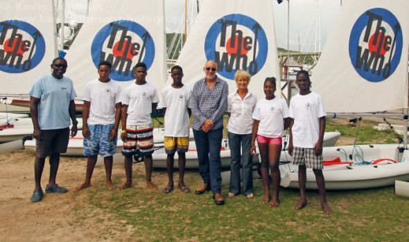 Pete donates sailing dinghies to Antigua's NSAA